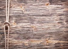 Sailor's knot over old wood. Stock Photography