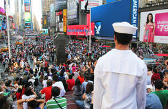A sailor's view of times square. Royalty Free Stock Image