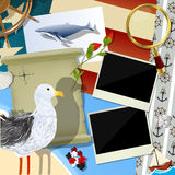 Sailor scrapbook design Royalty Free Stock Photography