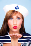 Sailor ship boat trip marine girl Royalty Free Stock Photos