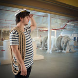 Sailor on ship Royalty Free Stock Photography