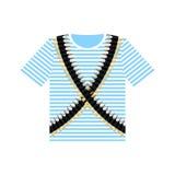 Sailor shirt and machine-gun belts. Military clothing. Army ammu Royalty Free Stock Photos