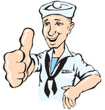 Sailor show thumb up Stock Images