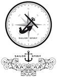 Sailor spirit design Stock Photos