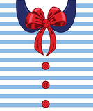 Sailor style ribbon and buttons Royalty Free Stock Images