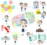 Sailor suit Thick eyebrows girl_success & positive Stock Photo