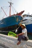 Sailor, Sunda Kelapa harbour Jakarta, Indonesia Royalty Free Stock Image