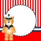 Sailor teddy bear background. Scalable vectorial image representing a sailor teddy bear background Stock Images