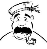 Sailor with tobacco pipe Stock Photos