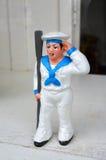 Sailor toys. With Costume White royalty free stock photos