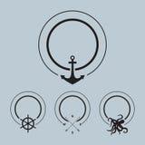 Sailor vector set. Nautical design, vector Royalty Free Stock Image