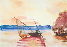Sailor, watercolor painting Royalty Free Stock Image