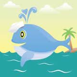 Sailor whale. Royalty Free Stock Photo