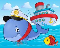 Sailor whale theme image 2 Stock Photography