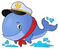 Sailor whale theme image 1 Royalty Free Stock Photography