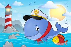 Sailor whale theme image 3 Royalty Free Stock Image