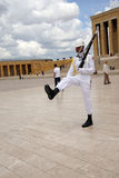 Sailor in white at the changing of the guard Royalty Free Stock Image