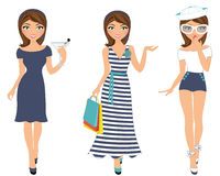 Sailor woman trio Royalty Free Stock Photo
