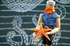 Sailor wooden dummy. Stock Photo