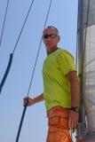 Sailor on yacht Royalty Free Stock Photo
