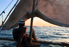 Sailor on Zanzibar Royalty Free Stock Image