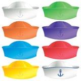 Sailors cap. A group of sailors hats in fun colors Stock Photography