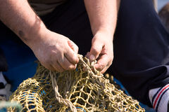 Sailors and fishing occupations Stock Image
