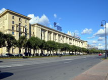 Sailors house in St. Petersburg. Russia Stock Images