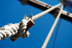Sailors knot. Against the blue Stock Photo