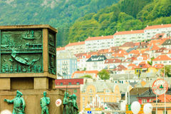 Sailors Monument in city Bergen on July 25, 2014 in Norway Royalty Free Stock Image