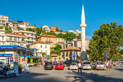 The Sailors' Mosque is an important landmark in Ulcinj stock photo
