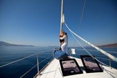 Sailors participate in sailing regatta Sail, Nature Royalty Free Stock Photos