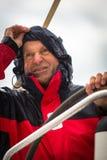 Sailors participate in sailing regatta 12th Ellada Autumn 2014 among Greek island group Royalty Free Stock Image