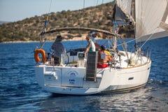 Sailors participate in sailing regatta 16th Ellada Royalty Free Stock Image