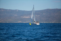 Sailors participate in sailing regatta 16th Ellada Royalty Free Stock Images