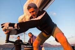 Sailors participate in sailing regatta 16th Ellada Stock Image