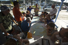 Sailors participate in sailing regatta 11th Ellada 2014 Stock Photo