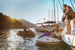Sailors participates in Sailing Regatta Royalty Free Stock Photo