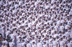 Sailors Saluting, Naval Academy Graduation Ceremony, May 26, 1999, Annapolis, Maryland Stock Images