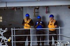 Sailors at Sea Stock Photography