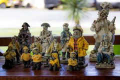 Sailors statues. At Flecheiras in Brazil Stock Photo