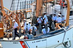 Sailors on USCGC Eagel Royalty Free Stock Photo