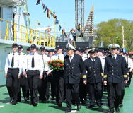 Sailors and veterans, Lithuania Stock Images