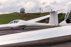 Sailpane на авиаполе стоковое фото