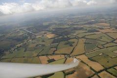 Sailplane,在飞行中滑翔机 免版税库存图片
