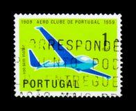 Sailplane, λέσχη Aero της Πορτογαλίας serie, circa 1960 Στοκ εικόνες με δικαίωμα ελεύθερης χρήσης