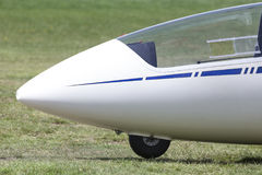 Sailplane на авиаполе Стоковые Фото
