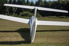 Sailplane на авиаполе Стоковое Изображение