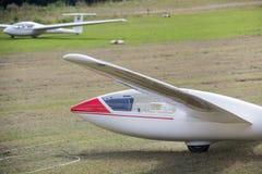 Sailplane на авиаполе Стоковые Изображения