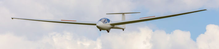 Sailplane in the air. An plain sailplane in the air Stock Photography
